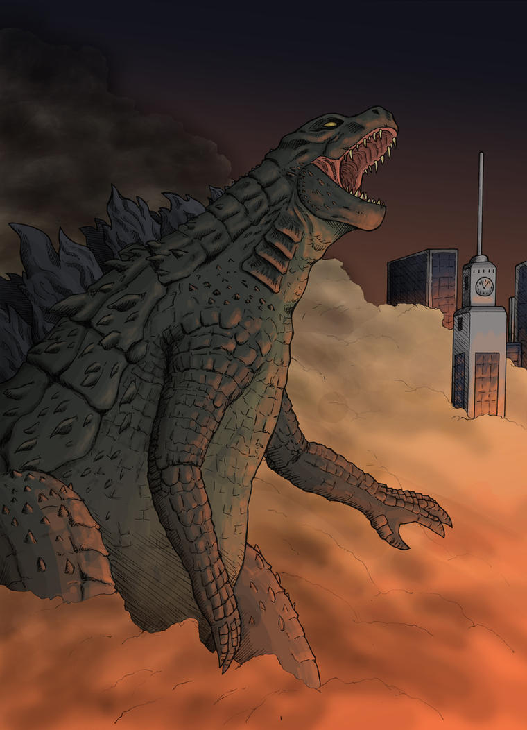 Godzilla, King of the Monsters! by Stark-liverbird
