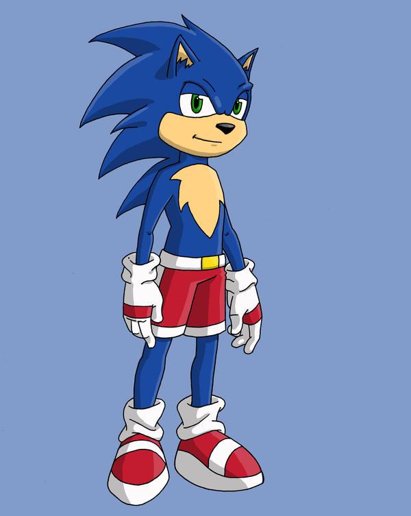 Sonic redesign by Stark-liverbird