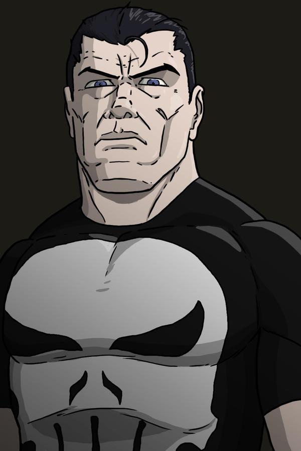 Punisher headshot by Stark-liverbird