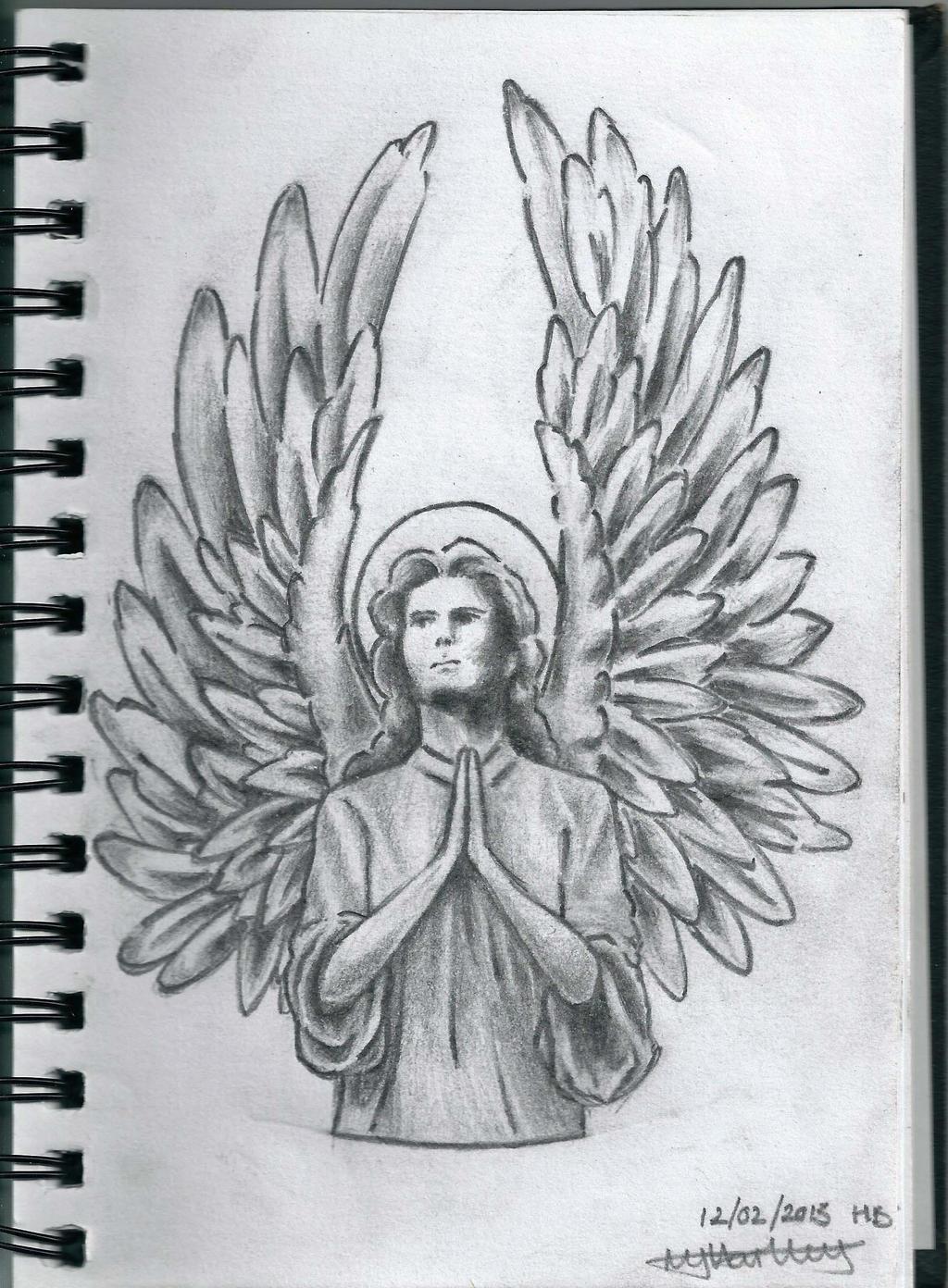 Guardian Angel Tattoo Sketches Guardian Angel by MJHa...