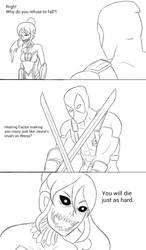 INJRWBY Elseworlds: Pyrrha vs Deadpool