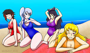 Commission: RWBY Swimsuits
