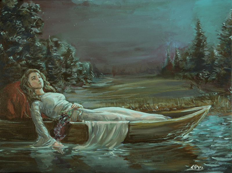 a literary analysis of the lady of shalott in the crucible