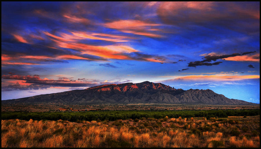 The Sandia Mountains, ABQ NM by kimjew
