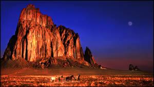 Shiprock, New Mexico - Sunrise