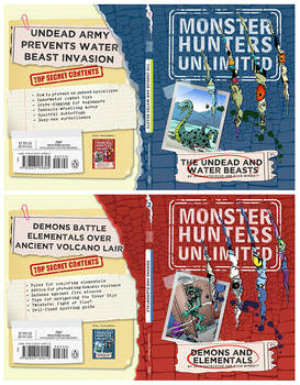 Monster Hunters Unlimited 1 and2 covers