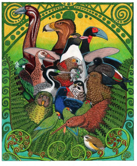 New Zealand Birds by NocturnalSea