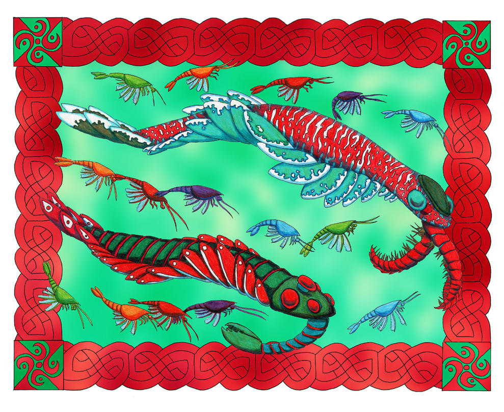 Anomalocarids Christmas Card by NocturnalSea