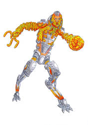 East Asian Slime Mould-Human Cyborg Trooper by biohazzart
