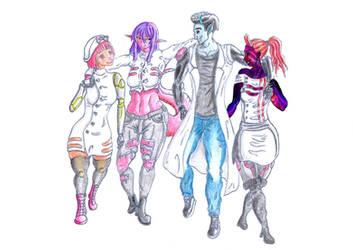 SynthSuccubi Transhumans by biohazzart
