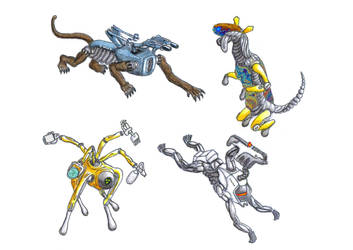 Quadruped Droids by biohazzart