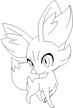fennekin evolution coloring pages coloring coloring pages