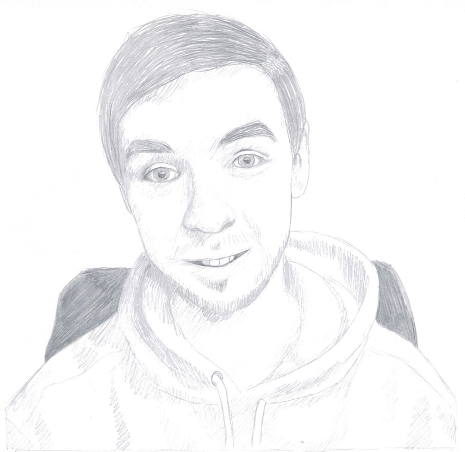 Jacksepticeye Pencil Sketch By Lisuje