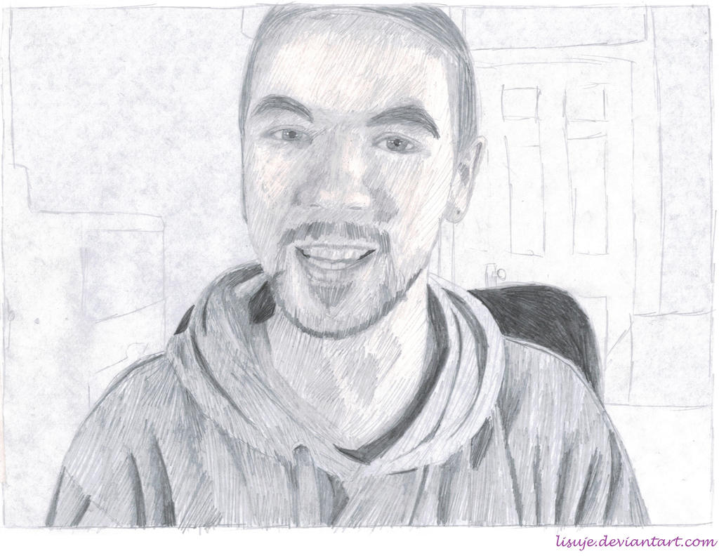 Jacksepticeye Pencil Sketch 2 By Lisuje