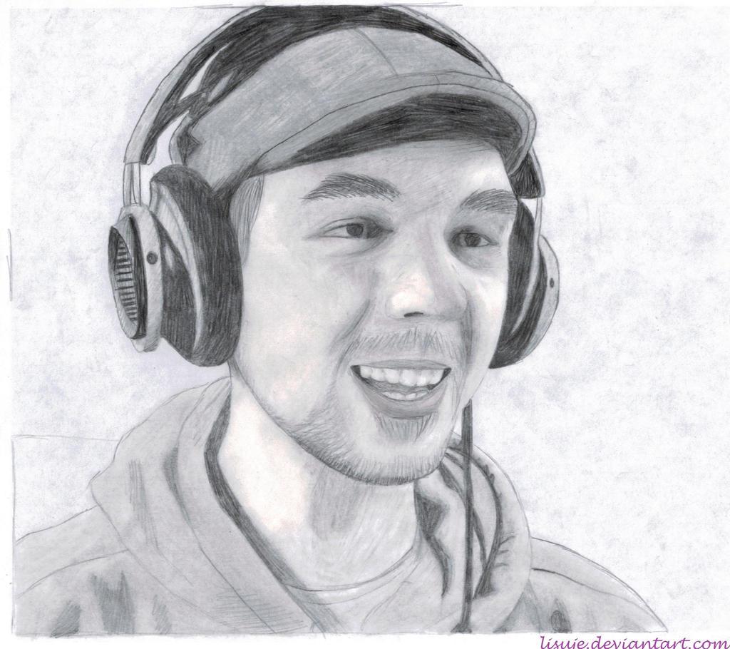 Jacksepticeye Pencil Sketch 4 By Lisuje Jacksepticeye Robot Drawing