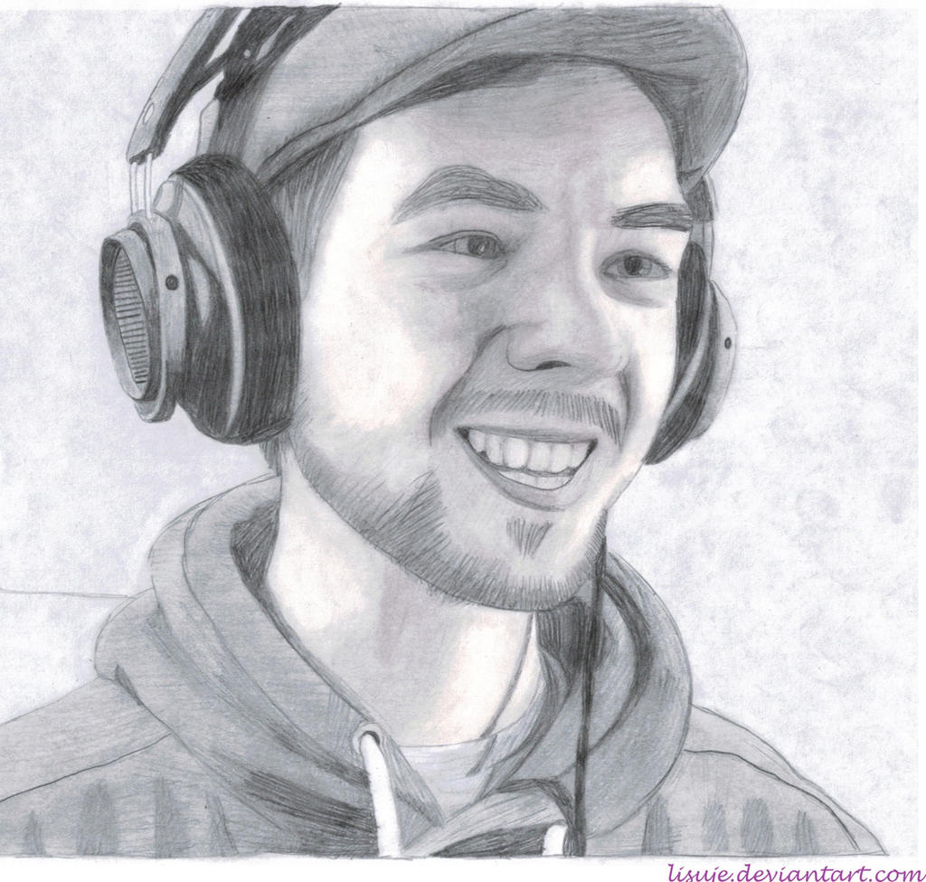 Jacksepticeye Pencil Sketch 5 By Lisuje