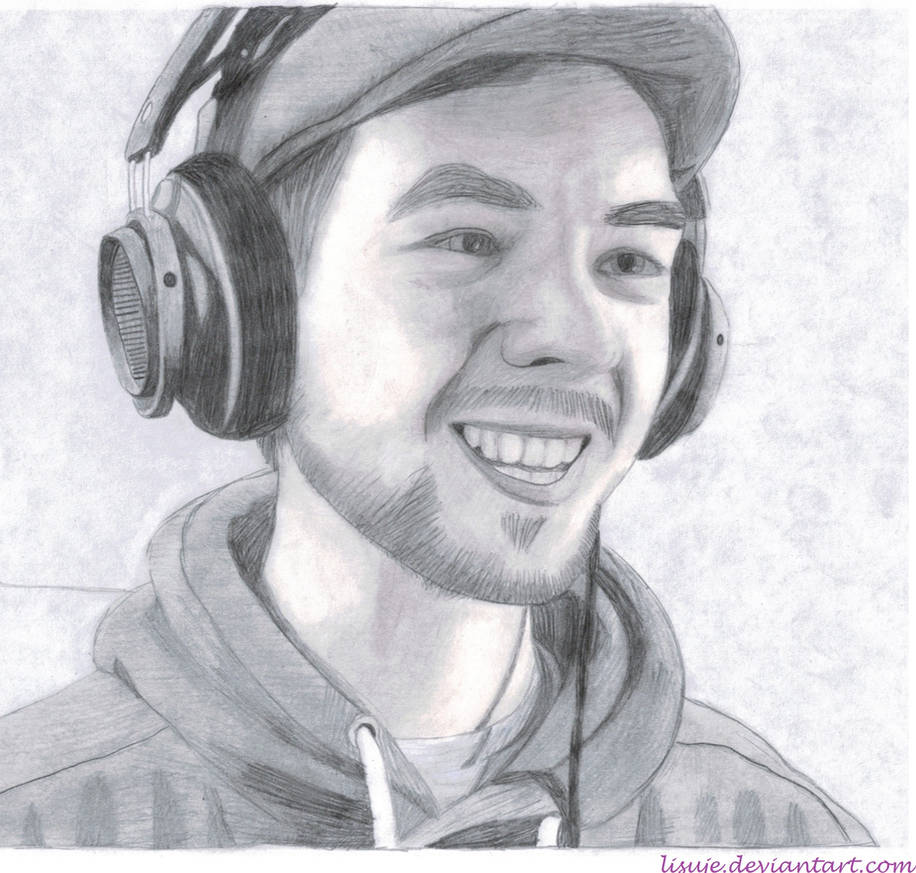 Jacksepticeye pencil sketch 5 by lisuje