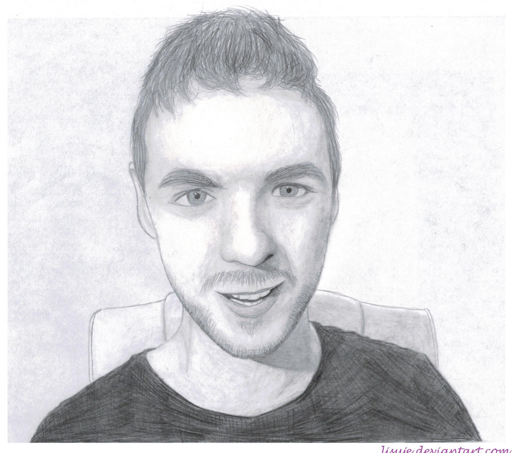 Jacksepticeye Pencil Sketch 6 By Lisuje