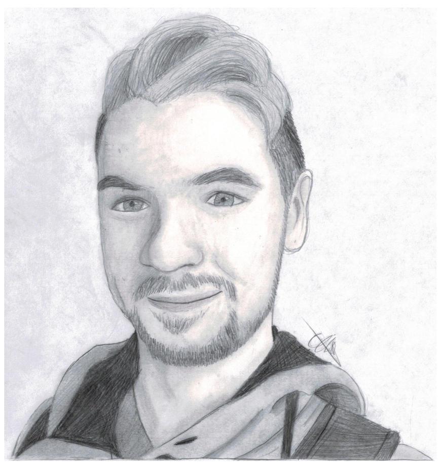 Jacksepticeye Pencil Sketch 14 By Lisuje