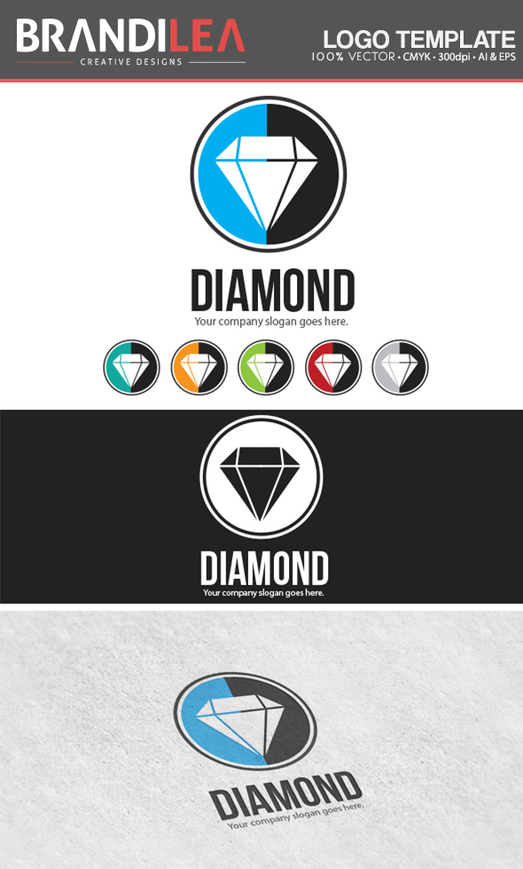 Diamond Logo Template by Brandi-Lea