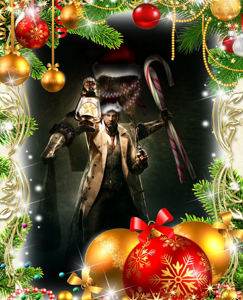 Christmas Wallpaper: The Evil Within by Rubysmooby on DeviantArt