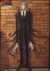 Slender Man Cardboard Cutout by Rubysmooby