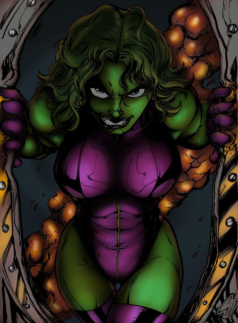 She Hulk Colored by vmpwraith