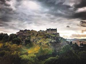 The last view of Edinburgh Castle