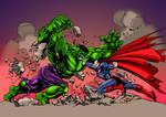 Hulk vs. Superman coloring