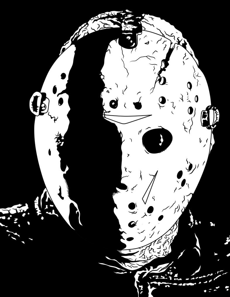 jason voorhees by frostdusk jason coloring pages