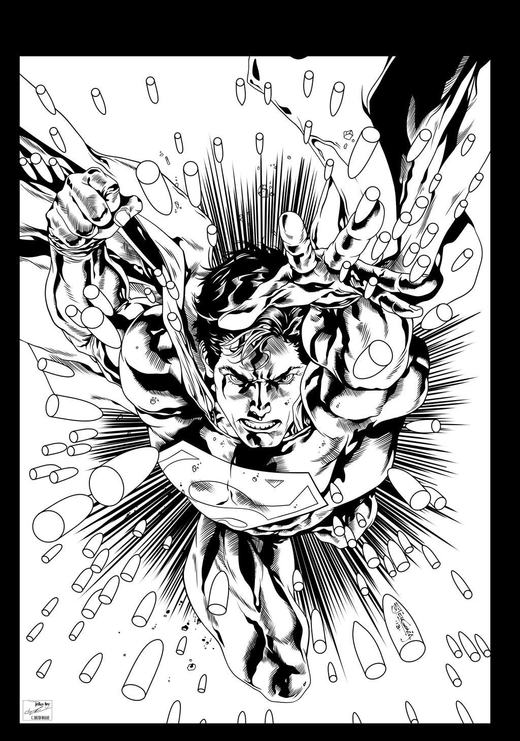 Superman Digital Inks by frostdusk on DeviantArt