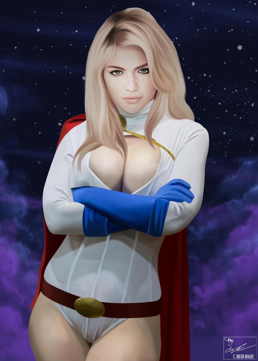 Kate Upton as Powergirl by frostdusk