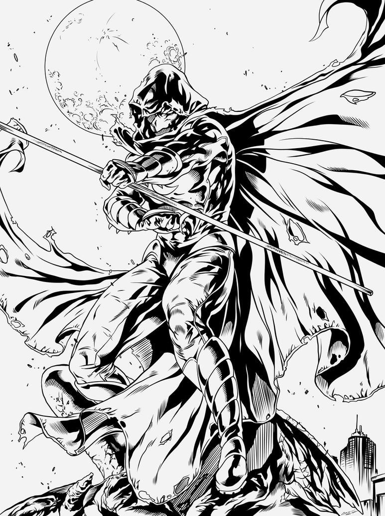 Moon Knight INK by frostdusk