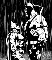 Batman vs. Bane (Rain) by frostdusk