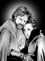 Luke and Leia by frostdusk