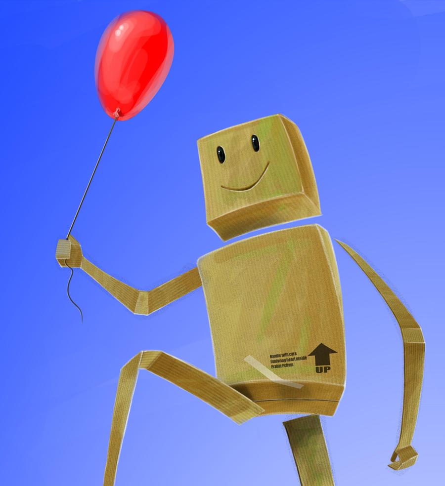 The Cardboard boy by prabinpebam