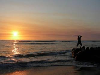 Samurai by the Sea by EireElf