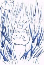 Little Totoro in the gras by Akai-lein