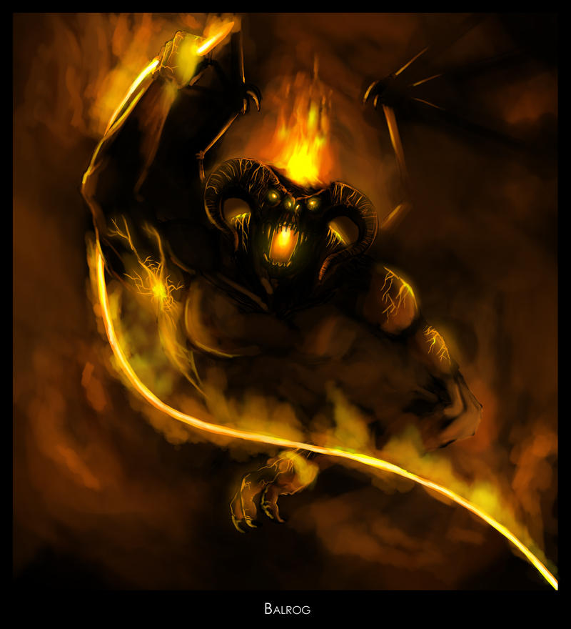 Balrog by highdarktemplar. Licenza Creative Commons Attribution-Noncommercial-No Derivative Works 3.0.