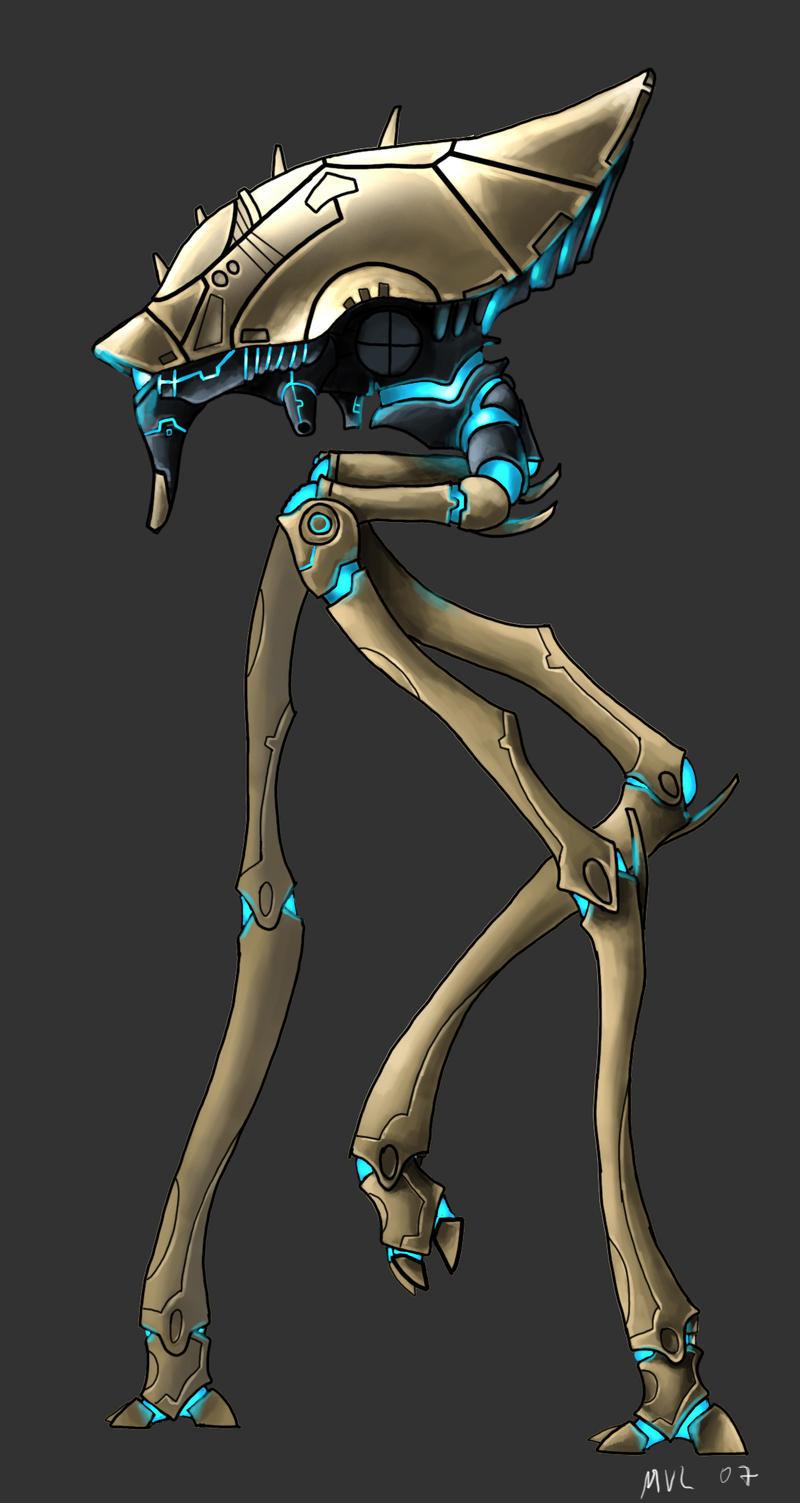 Protoss Titan by highdarktemplar