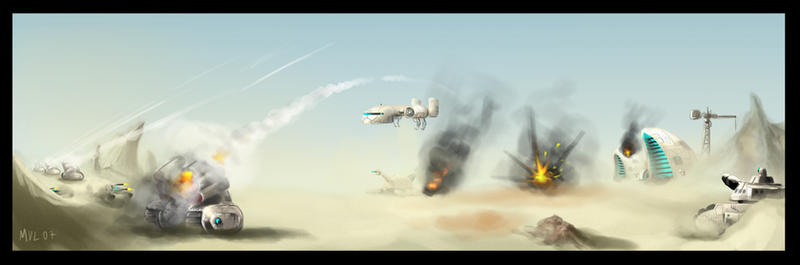Dune scene by highdarktemplar
