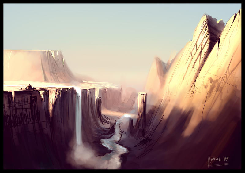 Canyon concept by highdarktemplar