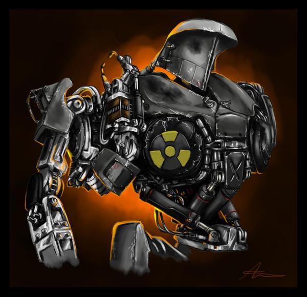 Cain -  the junky robot by highdarktemplar