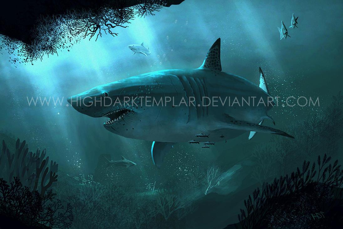 Carcharodon megalodon by highdarktemplar on DeviantArt