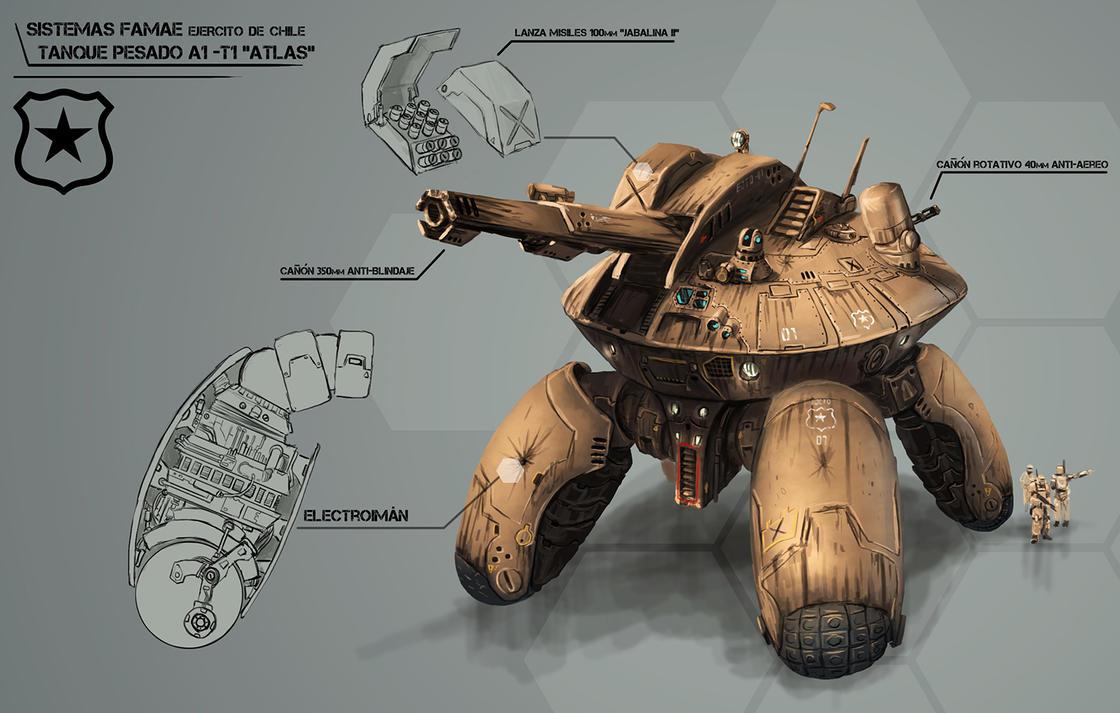 FAMAE systems, Heavy Tank A1-T1 Atlas by highdarktemplar