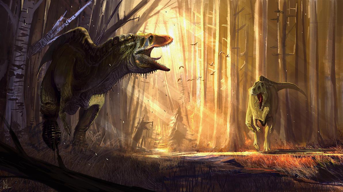Acrocanthosaurus atokensis by highdarktemplar