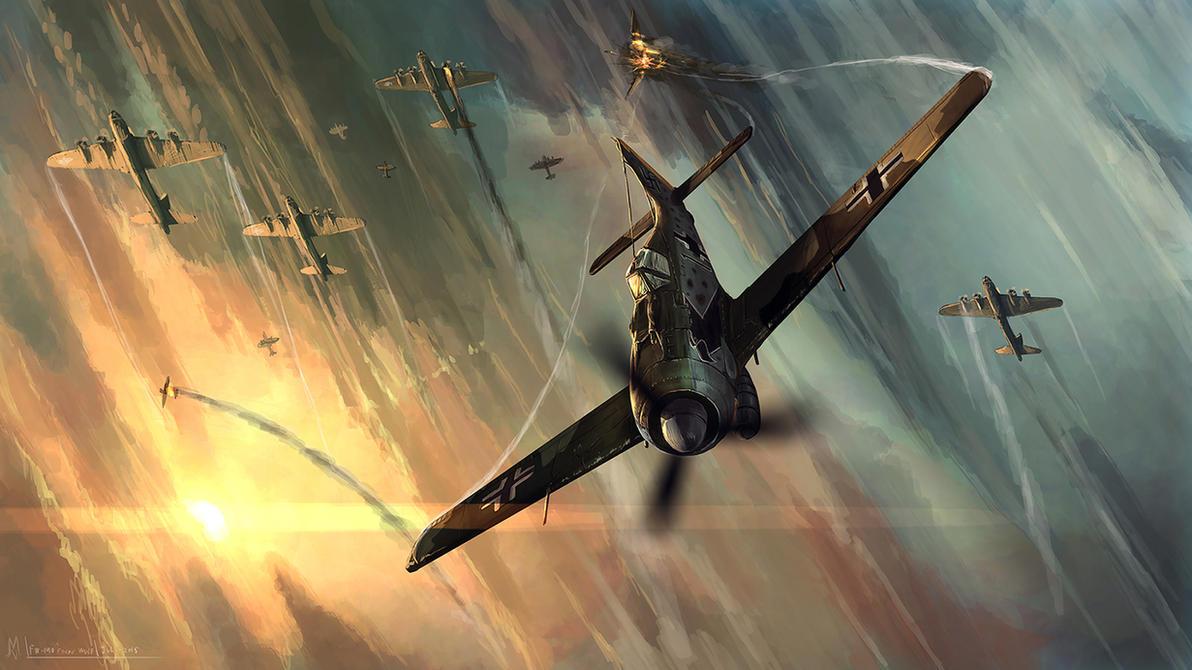 FW 190 Focke Wulf by highdarktemplar