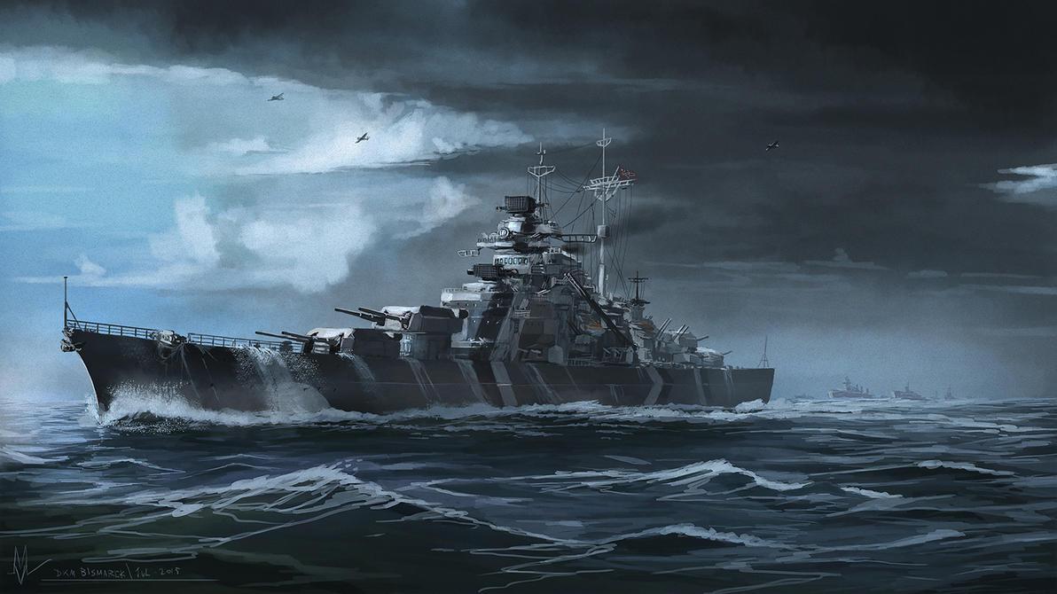 DKM Bismarck by highdarktemplar