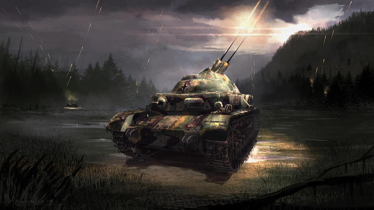 3cm Flakpanzer IV Kugelblitz by highdarktemplar