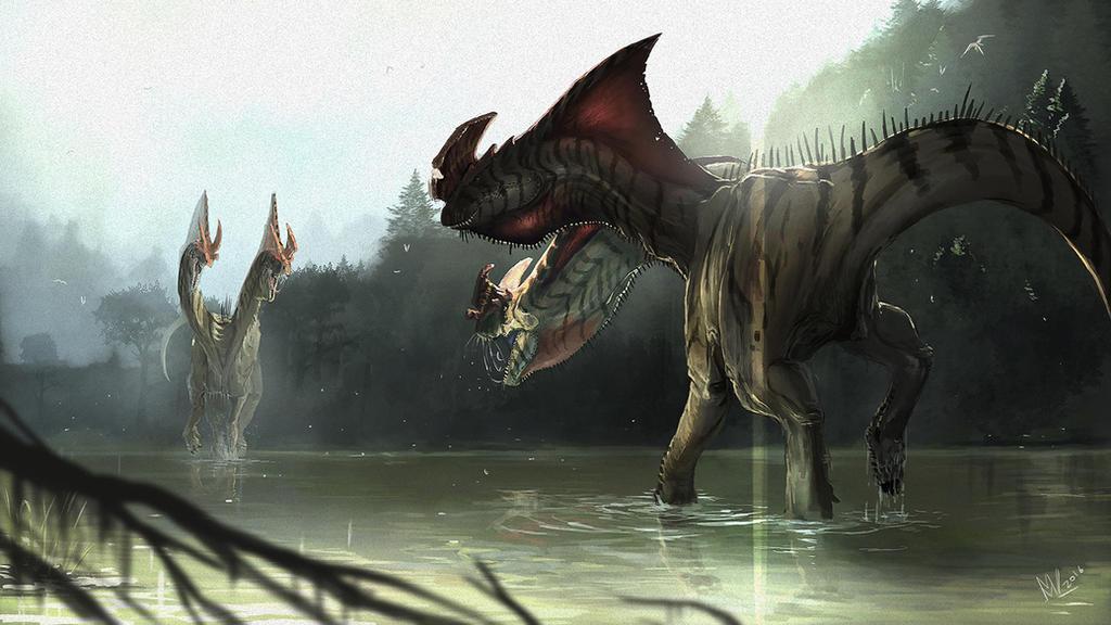 Fighting beasts by highdarktemplar